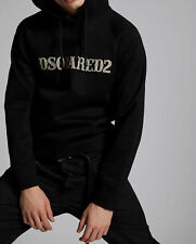 Dsquared2 Mens Hooded Cotton Blend Sweatshirt Hoodie Casual Logo Printed Top