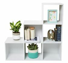 New Cube Storage Unite Shelf Display Bookcase Bookshelf Unit- White