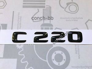 Mercedes C220 Badge Emblem Decals New Style Gloss Black