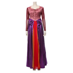 Hocus Pocus Sarah Sanderson Cosplay Costume Witch Robe Dress Halloween Outfit
