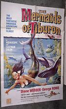 THE MERMAIDS OF TIBURON orig 1962 1sheet movie poster SCUBA DIVING/DIANE WEBBER