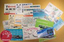 x13 BILLET JAPON JAPAN TRAIN TICKETS ZUGTICKETS TOGBILLETTER BIGLIETTI TRENO