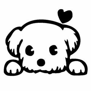 cute dog STICKER Car Bumper Van Window Wall Laptop JDM VINYL DECALS