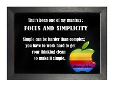 Steve Jobs Quote 2 Focus And Simplicity Poster Motivational Inspirational Photo
