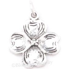 DOGWOOD Blossom Flower Pendant Bracelet Spring Easter Charm 925 Sterling Silver