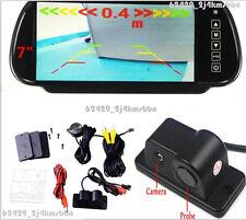 "Radar Sensor Car Reverse Camera 120° Wide Angle + 7"" LCD Mirror Monitor Display"