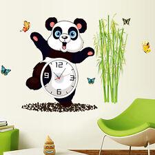 Animal Panda Wall Clock Decal Removable Home Decor Kids Room Sticker 68x90cm USA
