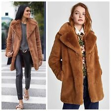 6ca46ea0 Rare! Size XS - NWT ZARA TEXTURED LAPEL JACKET FAUX FUR COAT TEDDY COAT