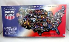 US map jigsaw puzzle 1000 pieces 31 inches wide road trip America states TDC