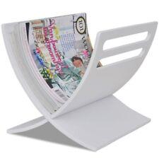 Revistero Natural/Marrón/Blanco Almacenamiento Soporte De Periódico Revistas