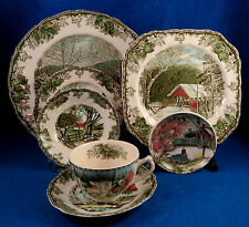 """Johnson Brothers: """"Friendly Village"""" 93 Pc Service for 10+ Made in England"""