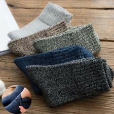 Men Soft 5 Pairs Solid Thick Winter Wool New Warm Casual Cashmere Sports Socks