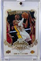 2008-09 Upper Deck MVP White Border Kobe Bryant Game 42, January 27, Lakers