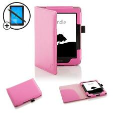 Forefront Cases Leather Pink Smart Case Amazon Kindle Voyage Stylus Screen Prot