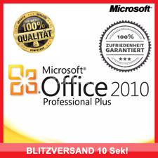 Microsoft Office 2010 Professional Plus, 32/64Bit✔ MS® PRO VOLLVERSION ✔Für 1PC✔