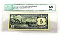 Netherlands Antilles. 5 Gulden. 1 June 1972. AU/UNC. Escaso.