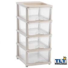 4 TIER Plastic Storage Drawers bedroom bathroom Office Organizer Toolboxes