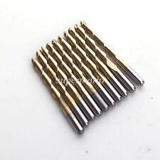 "10x 1/8"" Titanium Coated 2 Two Flute Carbide Ball Nose End Mills CNC Bits 22mm"