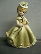 VINTAGE NAPCOWARE PORCELAIN ART FIGURINE SOUTHERN BELLE GIRL GREEN DRESS #C-6364