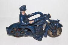 1930's Champion Cast Iron Police Motorcycle, Nice Original