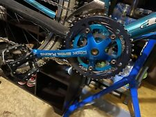 VINTAGE COOK BROS RACING 175L 44/34/24T CRANK SET - Blu ANODIZED