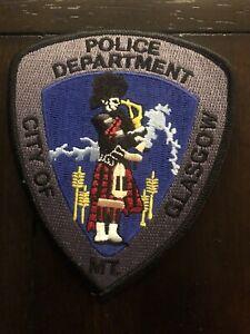 Montana Police -  Glasgow Police MT  Police  Patch