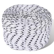 50 M corda poliestere intrecciato Core corde BOBINA BARCA MARINE Tenda industriale 6 mm