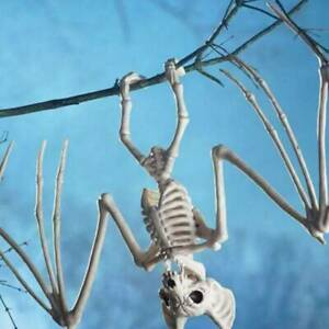 Creepy Skeleton Bat Bones Halloween Decor Scene Home Props F1S6 Scary Decor M0Z2