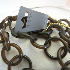 "39 1/2"" Pilgrim Jewelry Brown Plastic Interlocking Rings Necklace: 456521 F"