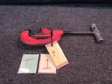"Ridgid No. 1-2 Pipe Cutter 1/8"" - 1-1/4"" Heavy Duty Plumbing Tool Usa Ohio Used"