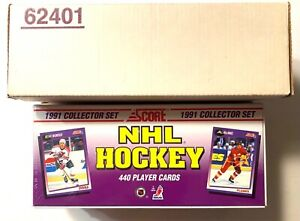1991-92 SCORE NHL HOCKEY USA FACTORY SET 440 CARDS LINDROS HASEK LECLAIR ROOKIES