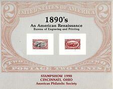 Bureau Engraving and Printing American Renaissance 2c Stamps Souvenir Card Print