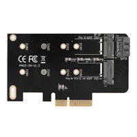 M.2 NGFF PCIe 4 LANE SSD to PCIE 3.0 x4 adapter 2 Ports for M6E Samsun SPG