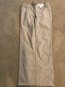 Justice Girls Khaki Straight Leg Pants Size 16 Beige Jeans Pocket