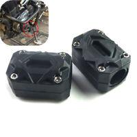 2x Universal Motorrad Motor-Rahmen-Schutz Sturzpads Sturzbügel 22/25/28mm Rohr