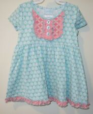 Brand New Serendipity Shrimp & Grits Blue/Pink Floral Dress Girl's Size 12-18M