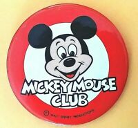 "MICKEY MOUSE CLUB membership button 3 1/2"" Mint Condition Pinback Button"