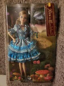 Alice In Wonderland 2007 Barbie Doll Silver Label Mattel