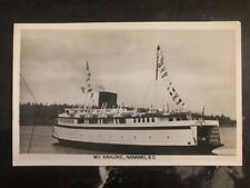 1953 Vancouver Canada Postcard Cover MV Kanloke Nanaimo BC