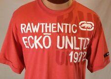 ECKO UNLTD 1972 Rawthentic Red Short Sleeve T-Shirt Size L