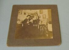 Victorian Era College Dorm Room Cabinet Card Photo Fishing Net Rifle Tankard