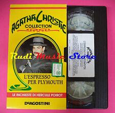VHS film L'ESPRESSO PER PLYMOUTH Agatha Christie collection DEA (F88) no dvd