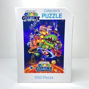 """Super Mario Galaxy 550 Piece Collector's Puzzle Nintendo 2010 - 18"""" x 24"""""""
