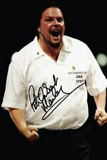 PETER MANLEY DARTS HAND SIGNED PHOTO AUTHENTIC + COA - 12x8