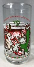 """Coke Holly Hobbie 5.5"""" Glass Tumbler Holly Telling a Story at Christmas 1972"""