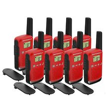 8 x Motorola TALKABOUT T42 8 Pack Two-Way Radios in Red PMR 446 Compact
