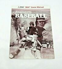 Realsports Baseball (Atari 7800, 1988) By Atari (manual only) NTSC