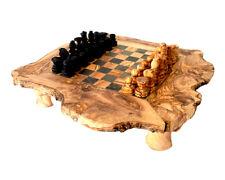 Jeux d'échec [43 cm/17 pouces] bois d'olivier cadeau noël fait à la main unique