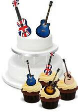 NOVELTY Acoustic Guitar Mix PACK 2 Large 12 Cupcake STAND UP Cake Toppers Rock
