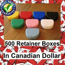 500 Mixed Colors Denture Retainer Box Orthodontic Dental Case Mouth Tray Brace